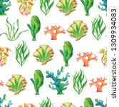 watercolor seamless retro...   Shutterstock . vector #1309934083