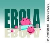 abstract virus image on...   Shutterstock .eps vector #1309934299