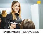 young attractive woman makeup...   Shutterstock . vector #1309937839