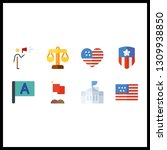 8 government icon. vector...   Shutterstock .eps vector #1309938850