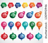 selling badges isolated on... | Shutterstock .eps vector #130993946