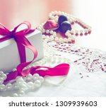 valentine's day  gift box with... | Shutterstock . vector #1309939603