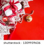 valentine's day  gift box with... | Shutterstock . vector #1309939636