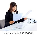 portrait of a businesswoman... | Shutterstock . vector #130994006