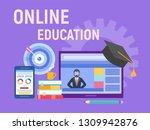 online education  webinar ... | Shutterstock .eps vector #1309942876