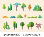 abstract forest plants and...