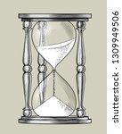 retro hourglass. vintage... | Shutterstock .eps vector #1309949506