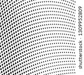 chaotic halftone texture | Shutterstock .eps vector #1309952809