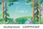 go to the forest. vector... | Shutterstock .eps vector #1309954369