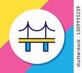 vector illustration of bridge... | Shutterstock .eps vector #1309955239