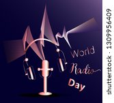 world radio day. template for... | Shutterstock .eps vector #1309956409