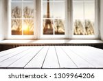 wooden table background of free ... | Shutterstock . vector #1309964206