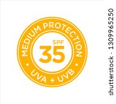uv  sun protection  medium spf... | Shutterstock .eps vector #1309965250