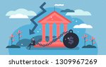 national debt vector... | Shutterstock .eps vector #1309967269