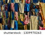 old colorful fabric many... | Shutterstock . vector #1309970263