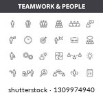 set of 24 teamwork icons in... | Shutterstock .eps vector #1309974940