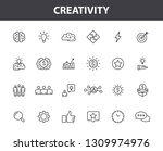 set of 24 creativity and idea... | Shutterstock .eps vector #1309974976