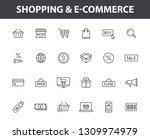set of 24 e commerce and... | Shutterstock .eps vector #1309974979