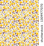 elegant floral pattern in small ... | Shutterstock .eps vector #1309977070