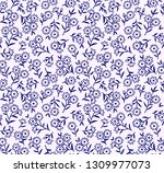 cute floral pattern in the... | Shutterstock .eps vector #1309977073