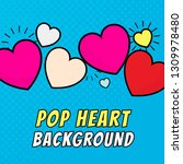 pop heart background design... | Shutterstock .eps vector #1309978480
