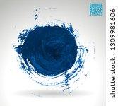 blue brush stroke and texture.... | Shutterstock .eps vector #1309981606