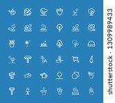 editable 36 botany icons for... | Shutterstock .eps vector #1309989433