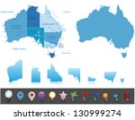australia   highly detailed... | Shutterstock .eps vector #130999274