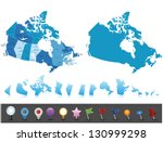 canada   highly detailed map... | Shutterstock .eps vector #130999298
