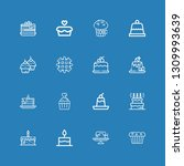editable 16 muffin icons for... | Shutterstock .eps vector #1309993639