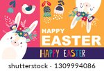 vector illustration with cute... | Shutterstock .eps vector #1309994086