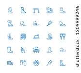 editable 25 walking icons for... | Shutterstock .eps vector #1309999246