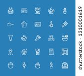 editable 25 kitchenware icons... | Shutterstock .eps vector #1310001619