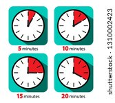 clock icon stopwatch set.... | Shutterstock .eps vector #1310002423