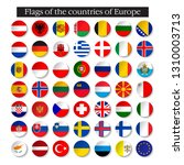 set of world flags round badges.... | Shutterstock .eps vector #1310003713