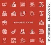 editable 22 alphabet icons for... | Shutterstock .eps vector #1310004790
