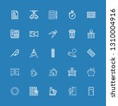 editable 25 elements icons for... | Shutterstock .eps vector #1310004916