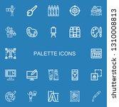 editable 22 palette icons for... | Shutterstock .eps vector #1310008813