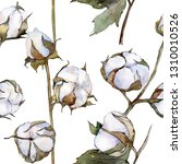 white cotton floral botanical... | Shutterstock . vector #1310010526