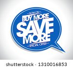 buy more save more poster... | Shutterstock .eps vector #1310016853
