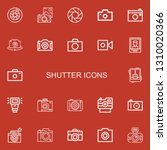 editable 22 shutter icons for... | Shutterstock .eps vector #1310020366