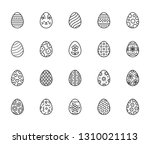 easter food flat line icons set.... | Shutterstock .eps vector #1310021113
