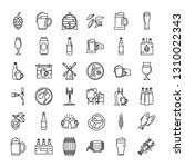 Craft Beer Pixel Perfect Icons...