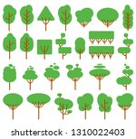 vector illustration  flat green ... | Shutterstock .eps vector #1310022403