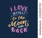 lettering phrase i love myself... | Shutterstock .eps vector #1310025703