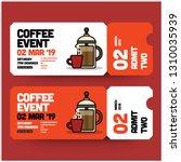 coffee event invitation design... | Shutterstock .eps vector #1310035939