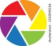 shutter icon and logo | Shutterstock .eps vector #1310040136