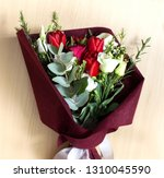 colorful flower bouquet from... | Shutterstock . vector #1310045590
