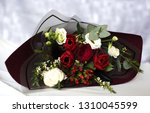 colorful flower bouquet from... | Shutterstock . vector #1310045599