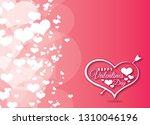 happy valentine's day vector... | Shutterstock .eps vector #1310046196